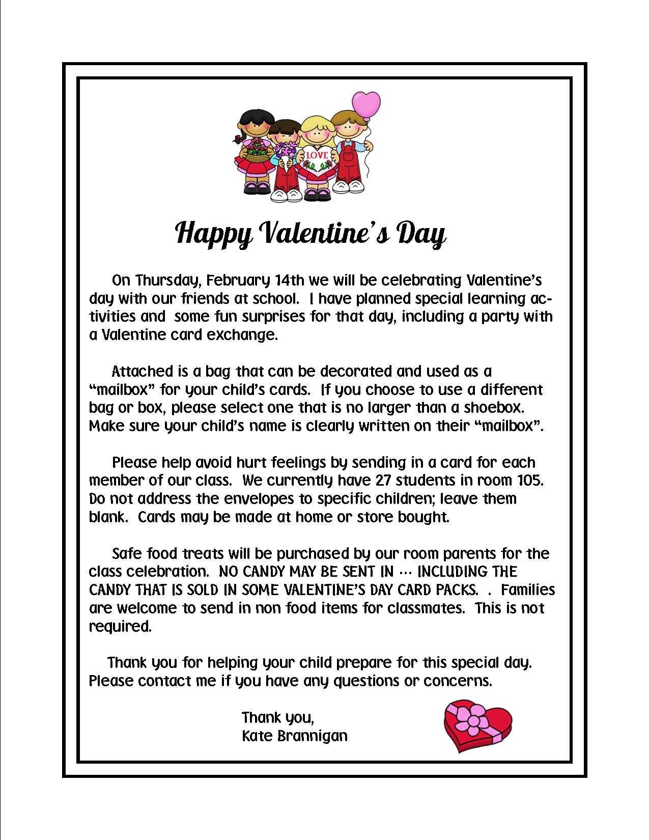 99 ideas Valentine Class Letter on xmaskidsdownload